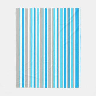 Medium White, Blue & Grey Stripes Blanket