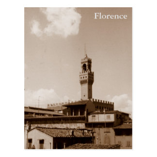 Mediveal view of Florence Postcard