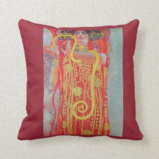 medizin by Gustav Klimt,vintage art,art deco,trend Throw Pillow