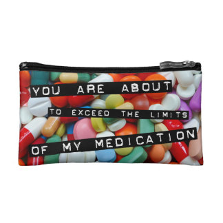 Meds ~ photo print of drugs / medication / pills cosmetic bag