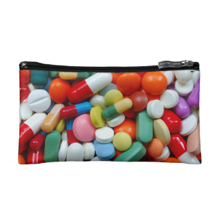 Meds ~ photo print of drugs / medication / pills cosmetic bags