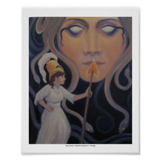 Medusa and Athena - a symbolic view Poster