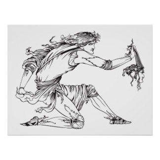 Medusa Aubrey Beardsley Poster