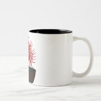Medusa Flower Two-Tone Coffee Mug