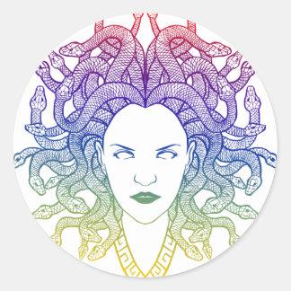 medusa round sticker