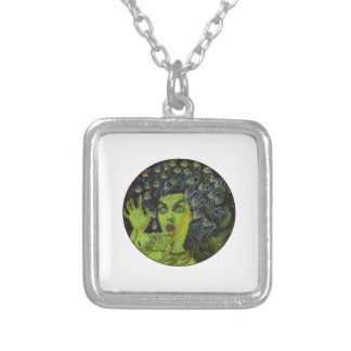 MEDUSA THE WARRIOR SILVER PLATED NECKLACE