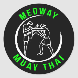 Medway Muay Thai Sticker - Black