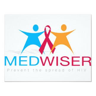 "Medwiser Blue 4.25"" X 5.5"" Invitation Card"