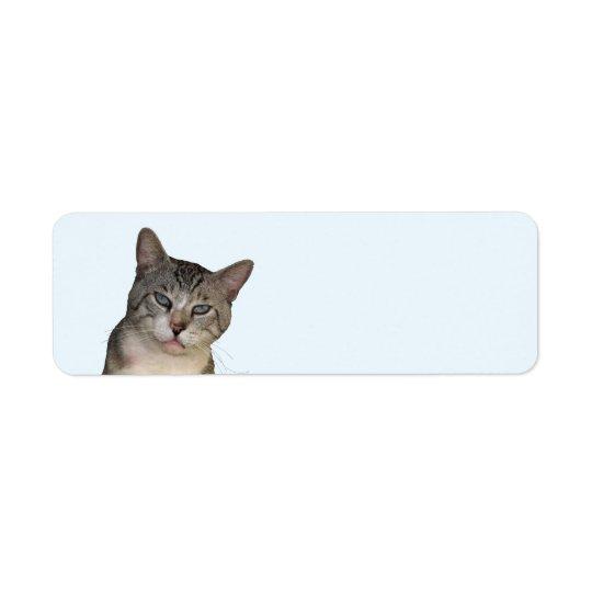 Meece The Cat Return Address Labels