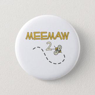 Meemaw 2 Bee 2 Inch Round Button