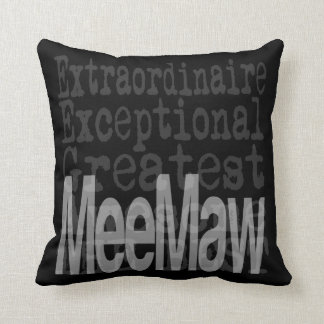MeeMaw Extraordinaire Throw Pillow