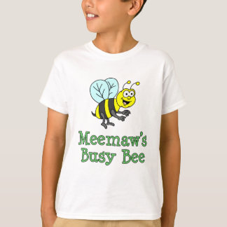 Meemaw's Busy Bee Cute Cartoon T-Shirt