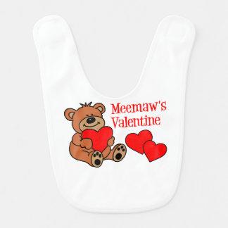 Meemaw's Valentine Bear Bib