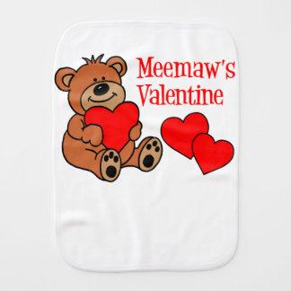 Meemaw's Valentine Bear Burp Cloth
