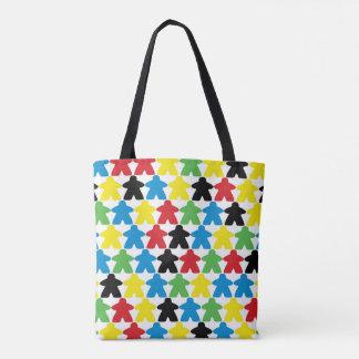 Meeple people tote bag