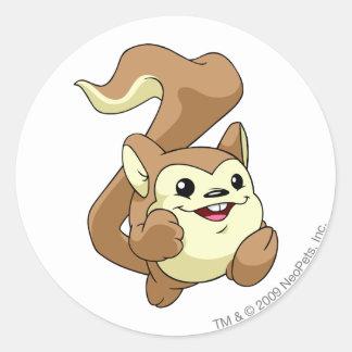 Meerca Brown Classic Round Sticker