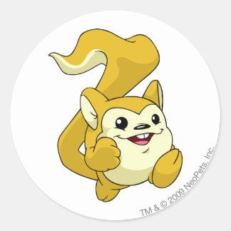 Meerca Yellow Classic Round Sticker