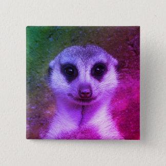 Meerkat 2 Inch Square Button