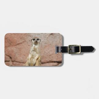 Meerkat Africa Animal Country Pet Cute Animal Luggage Tag