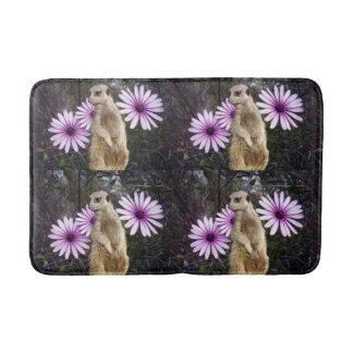 Meerkat_And_Daisies,_Medium_Memory_Foam_Bath_Mat. Bathroom Mat