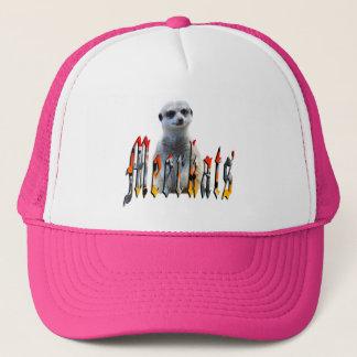 Meerkat And Meerkat Logo Pink Truckers Cap