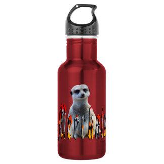 Meerkat And Meerkat Logo Red Reusable Bottle. 532 Ml Water Bottle
