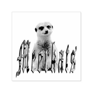 Meerkat And Meerkat Logo, Self-inking Stamp