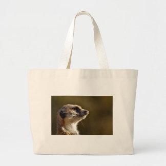 Meerkat Animal Nature Zoo Tiergarten Small Fur Large Tote Bag