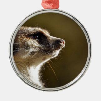 Meerkat Animal Nature Zoo Tiergarten Small Fur Metal Ornament