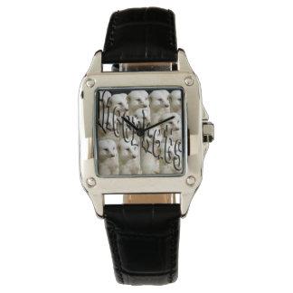 Meerkat Army Logo, Ladies Square Leather Watch