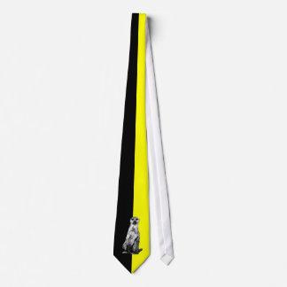 Meerkat Black And Yellow Half and Half Tie