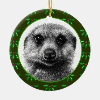 Meerkat Christmas Ornament