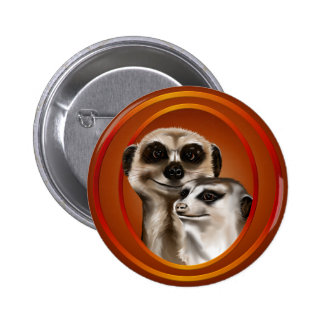 Meerkat Couple-Buttons 2 Inch Round Button