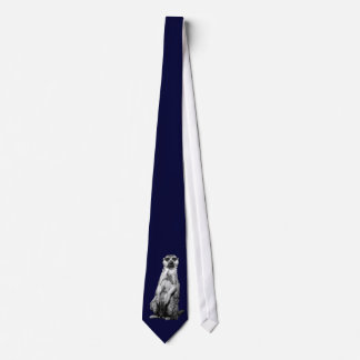Meerkat Dark Navy Blue Tie