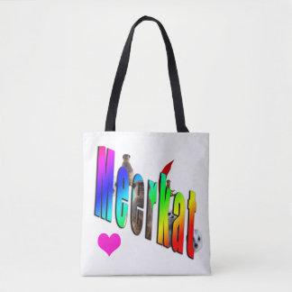 Meerkat Dimensional Logo Shopping Bag. Tote Bag