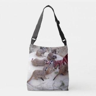 Meerkat Eating Ribs For Tea, Crossbody Bag