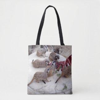 Meerkat Eating Ribs For Tea, Tote Bag
