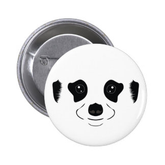 Meerkat face silhouette 2 inch round button