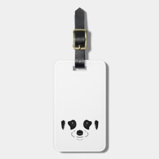 Meerkat face silhouette luggage tag