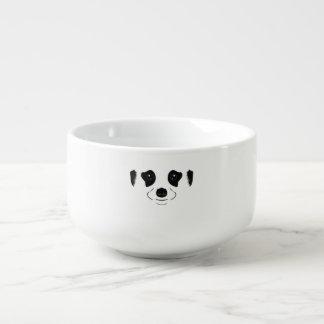 Meerkat face silhouette soup mug