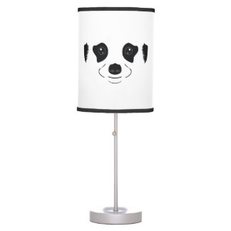 Meerkat face silhouette table lamp