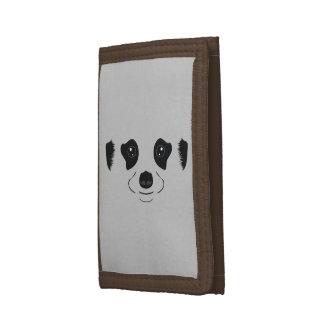 Meerkat face silhouette tri-fold wallet