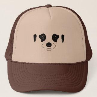 Meerkat face silhouette trucker hat