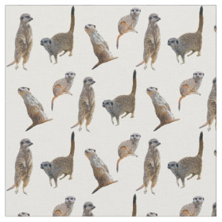Meerkat Frenzy Fabric (choose colour)