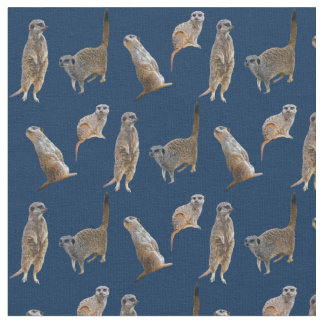 Meerkat Frenzy Fabric (Navy)