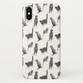 Meerkat Frenzy iPhone X Case (choose colour)