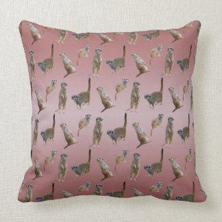 Meerkat Frenzy Pillow (Dusty Pink Mix)