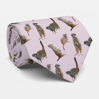 Meerkat Frenzy Tie (Dusty Pink)