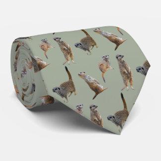 Meerkat Frenzy Tie (khaki)