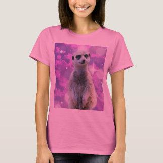 Meerkat_Glitter_Ball,_Ladies_Pink_T-shirt T-Shirt